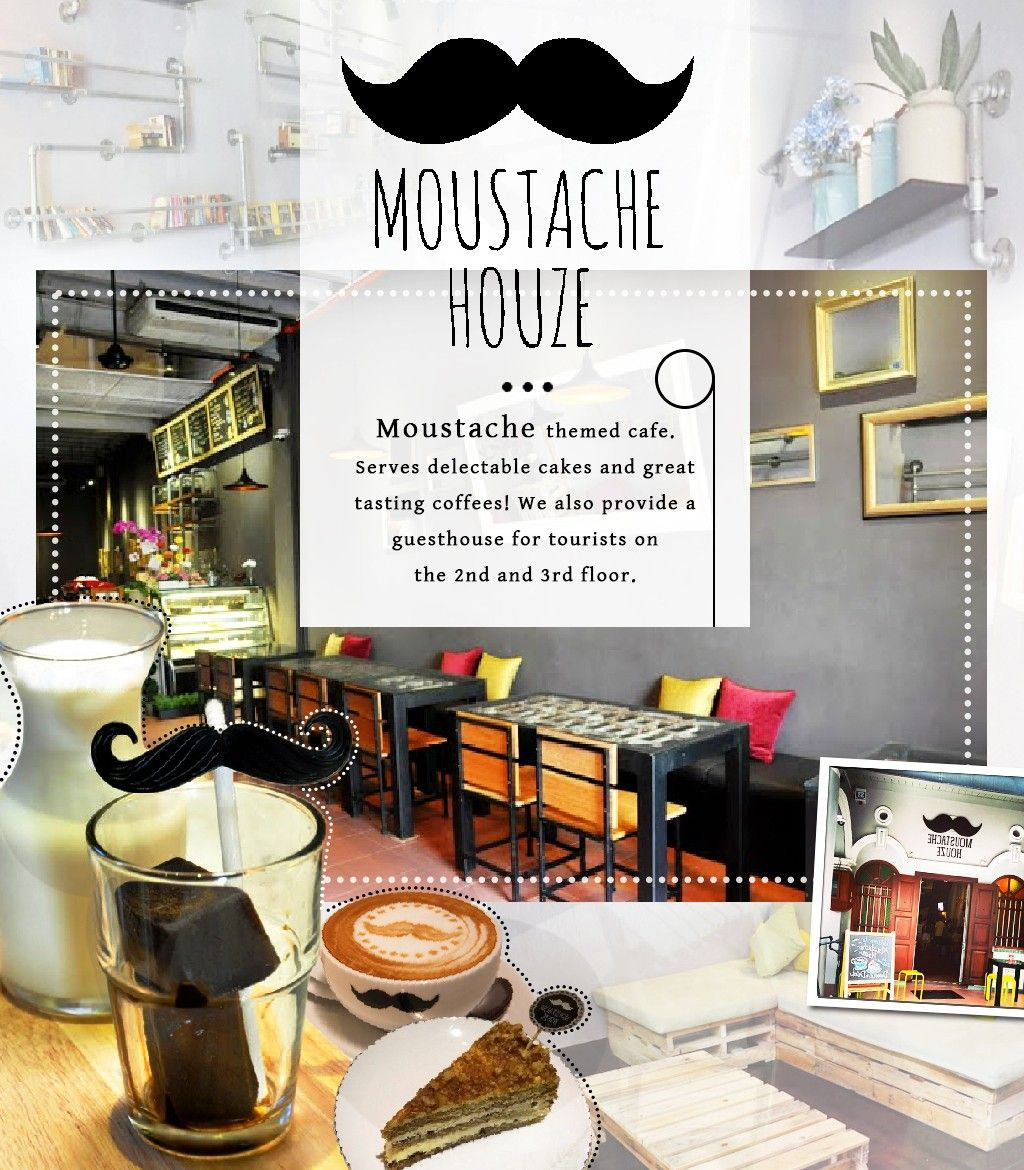 a moustache themed cafe house in penang moustache houze cafe serves delectable cakes and - Houze Interior Design