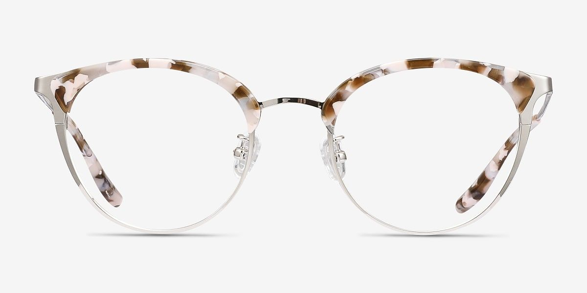 Bouquet Round Floral Silver Frame Glasses For Women Eyebuydirect Eyeglasses Eyeglasses For Women Silver Frame