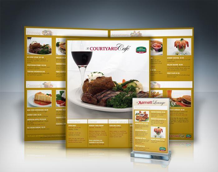 Marriott menu restaurant design pinterest