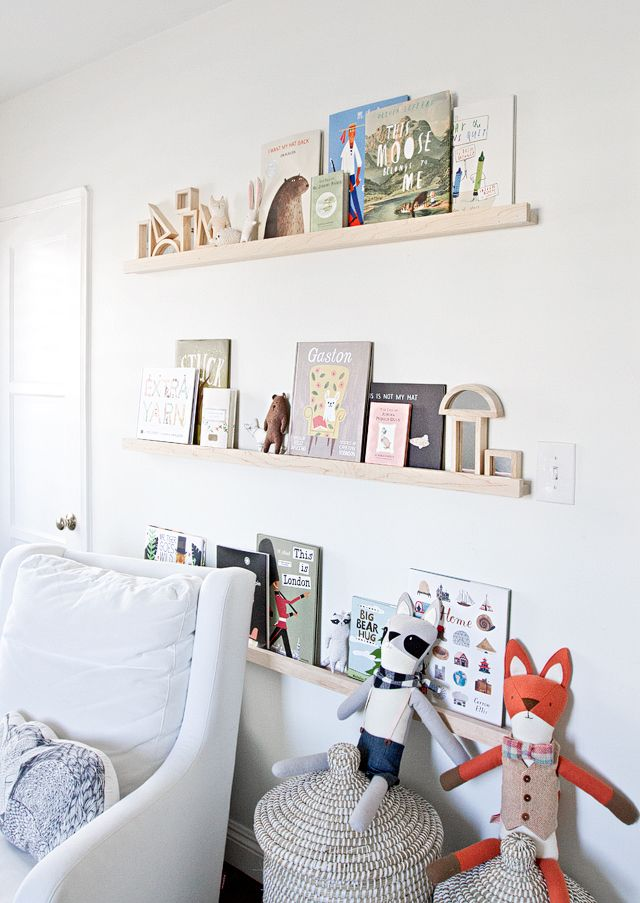 The Perfect White Diy Nursery Shelves Sarah Sherman Samuel Nursery Shelves Diy Nursery Shelf Nursery Wall Shelf