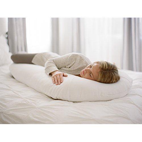 Moonlight Slumber Comfort U Total Body Support Pillow White