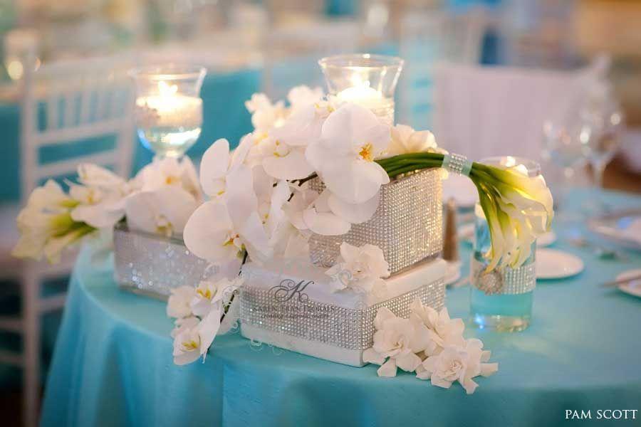 Glamorous Tiffany Blue Wedding At The Hotel Del Coronado Reception