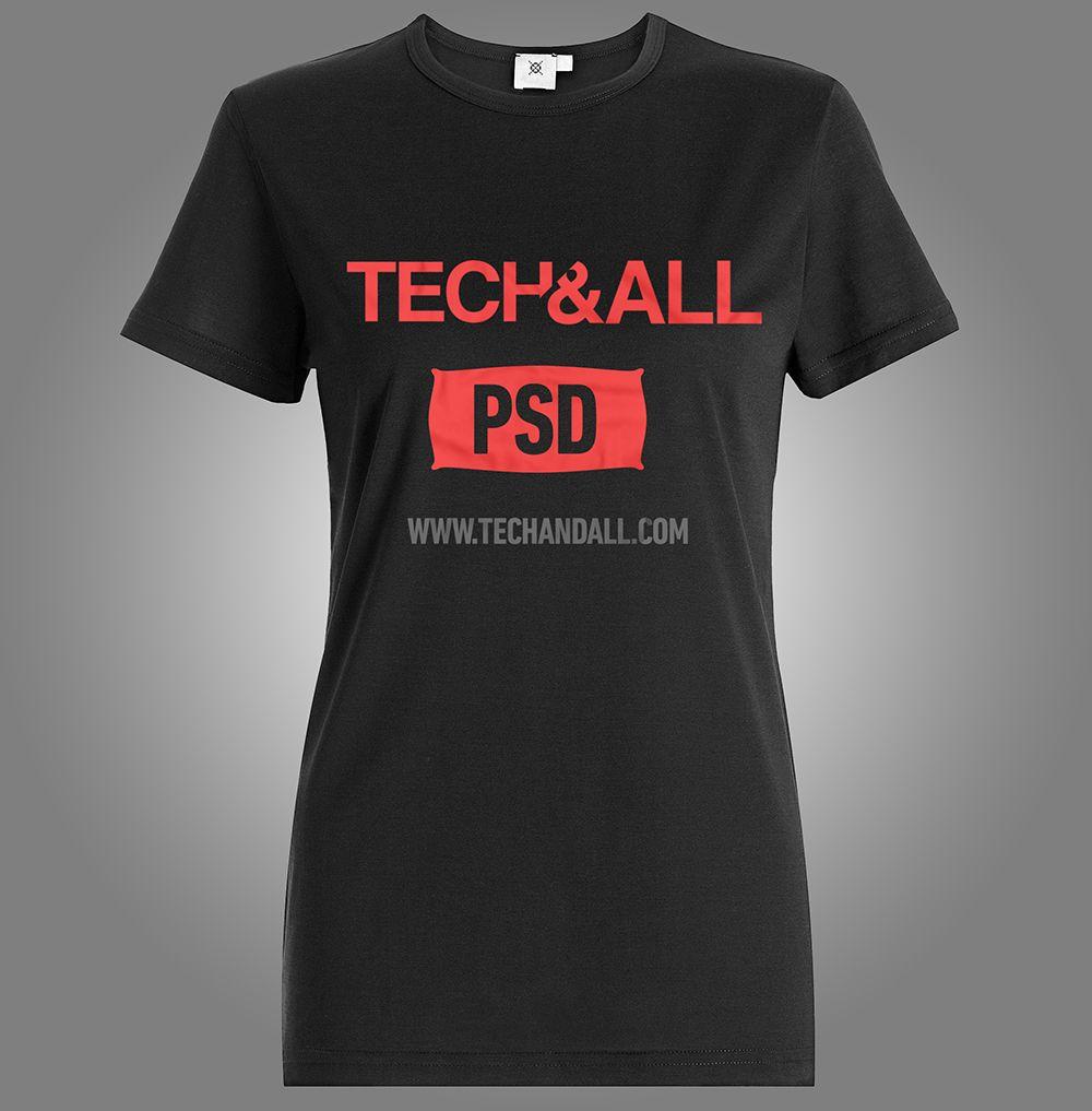 Lady\'s T-Shirt Mockup | Mock ups | Pinterest | Background images and ...