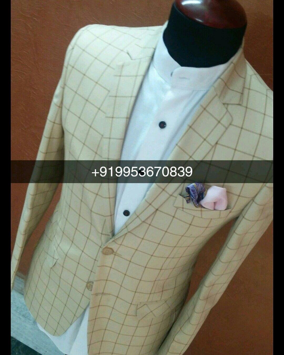 Wedding wear Designer Check 2018 Slim Fit Blazer Suit Worldwide ...