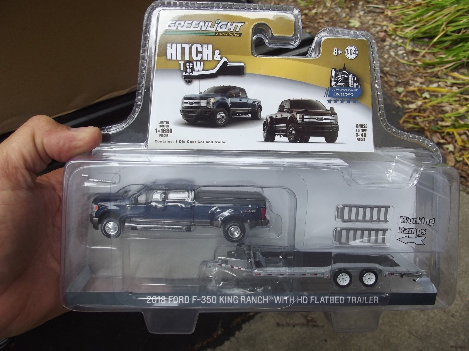 hight resolution of contemporary manufacture 180506 greenlight hitch and tow 2018 blue jean ford f350 dually and hd