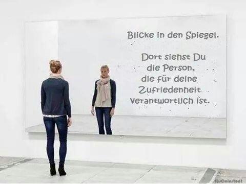 Blicke in den Spiegel...