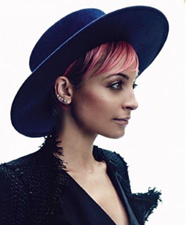 Photo of Nicole Richie in the Exclusive Yestadt Millinery The Navy Juan available at Bona …