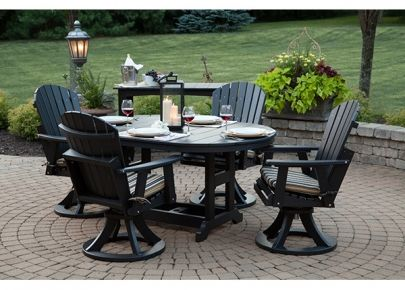 Oval Table Set Amish Poly Lumber Virtually Zero 400 x 300