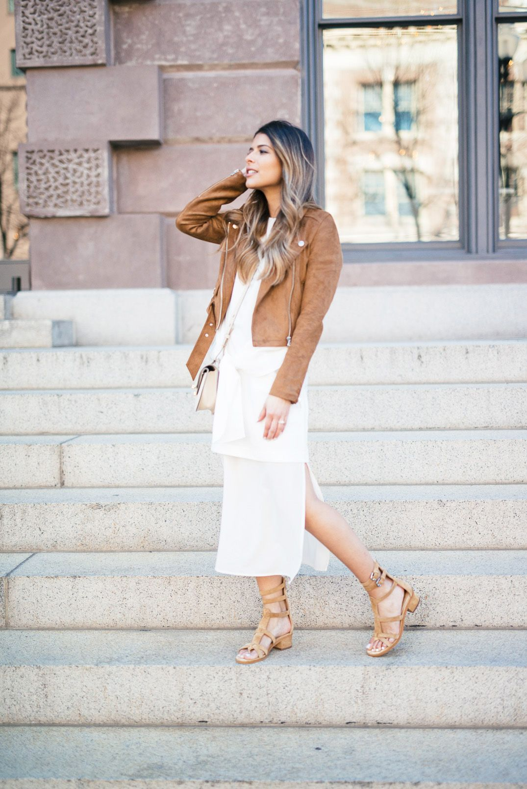 29cf6f2b58c1 Gladiator sandals will always look good worn with a maxi dress; especially  in white! This dress brings out the true rustic style of the sandals, ...