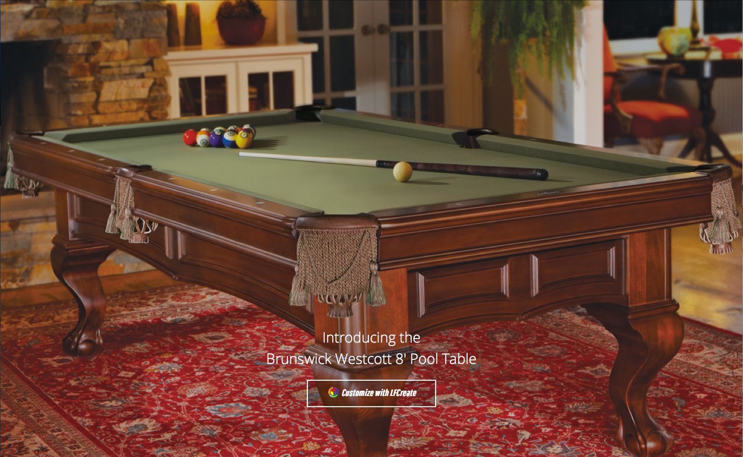 Brunswick Westcott 8 ft Pool Table DISCONTINUED ONLY