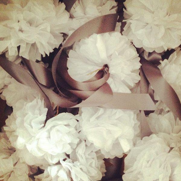 Tissue paper garnish!