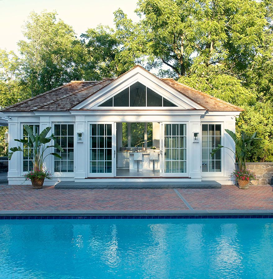 Small Backyard Guest House Plans: Pool House Designed By Laura Tutun