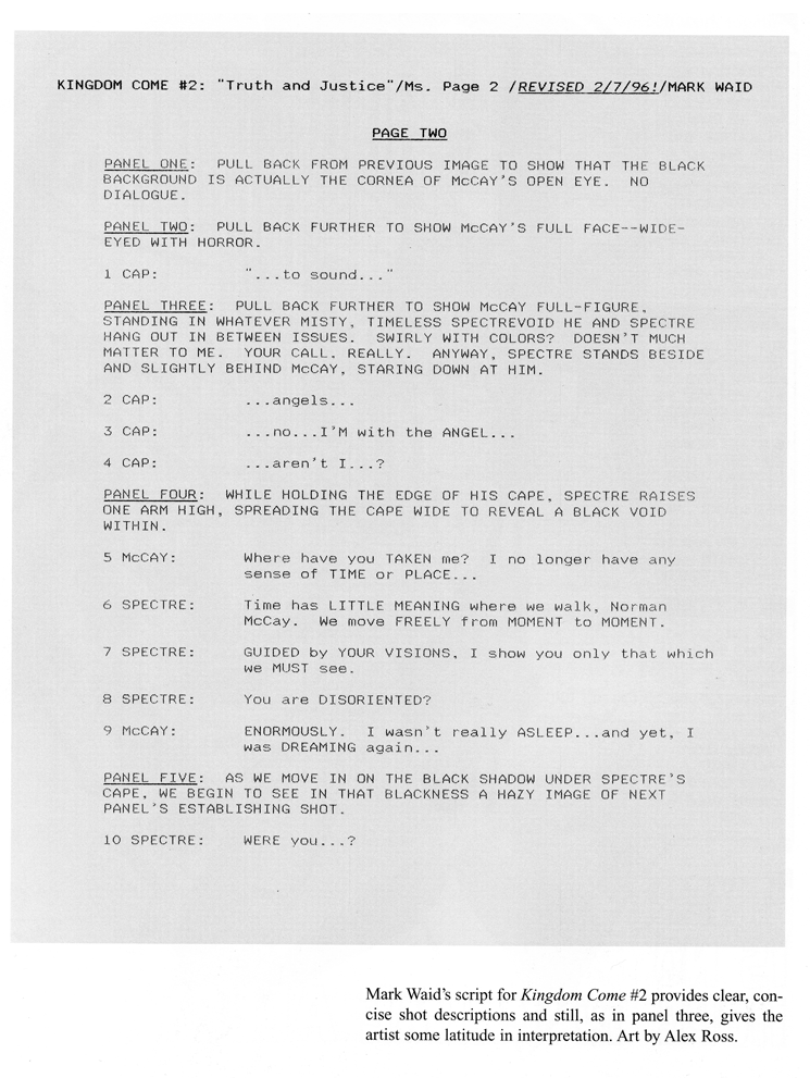 graphic novel script format