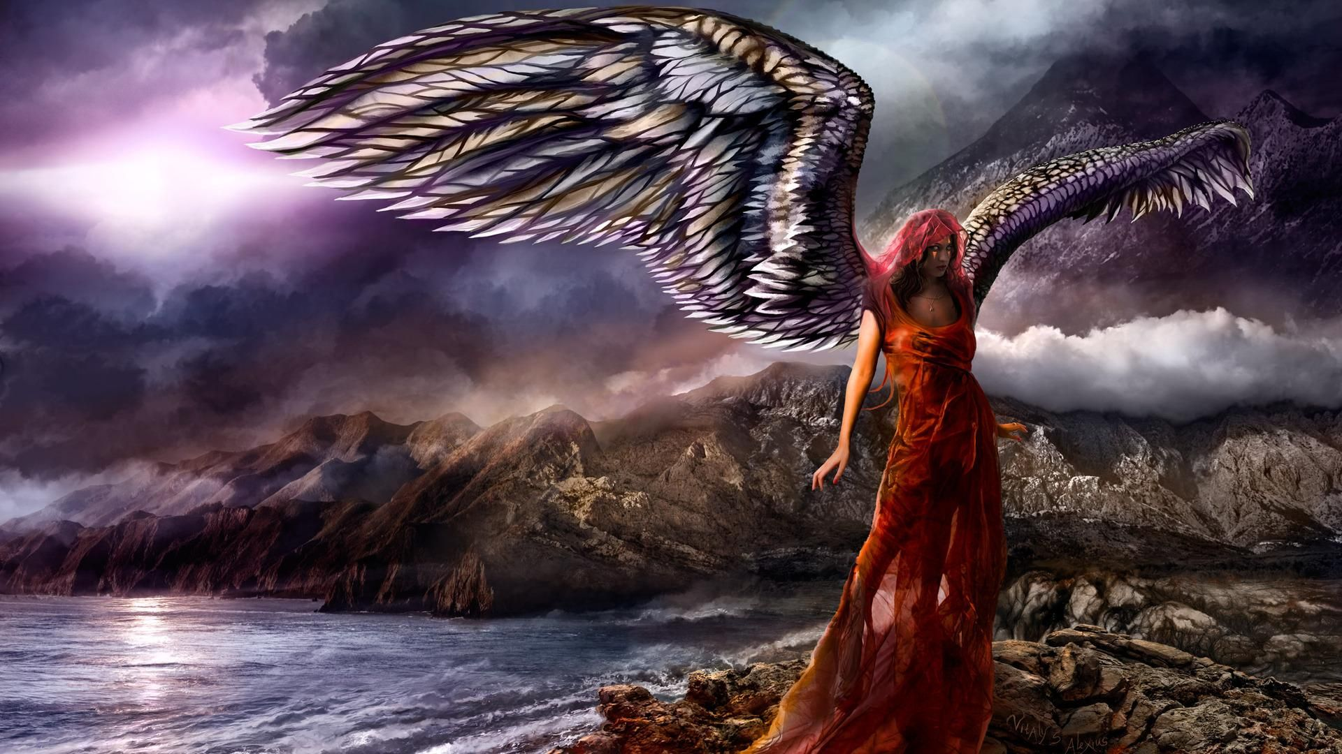 Angels Hd Fantasy Angel Nature Beauty Water Free Re Com Wallpaper Dark Angel Wallpaper Angel Wallpaper Angel Pictures