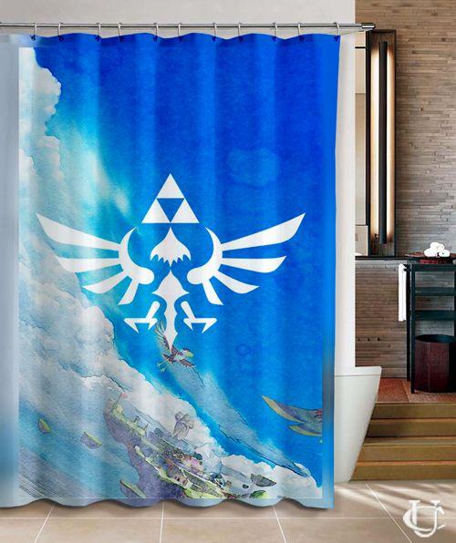 Charming Cheap Legend Of Zelda Triforce Of The Gods Shower Curtain