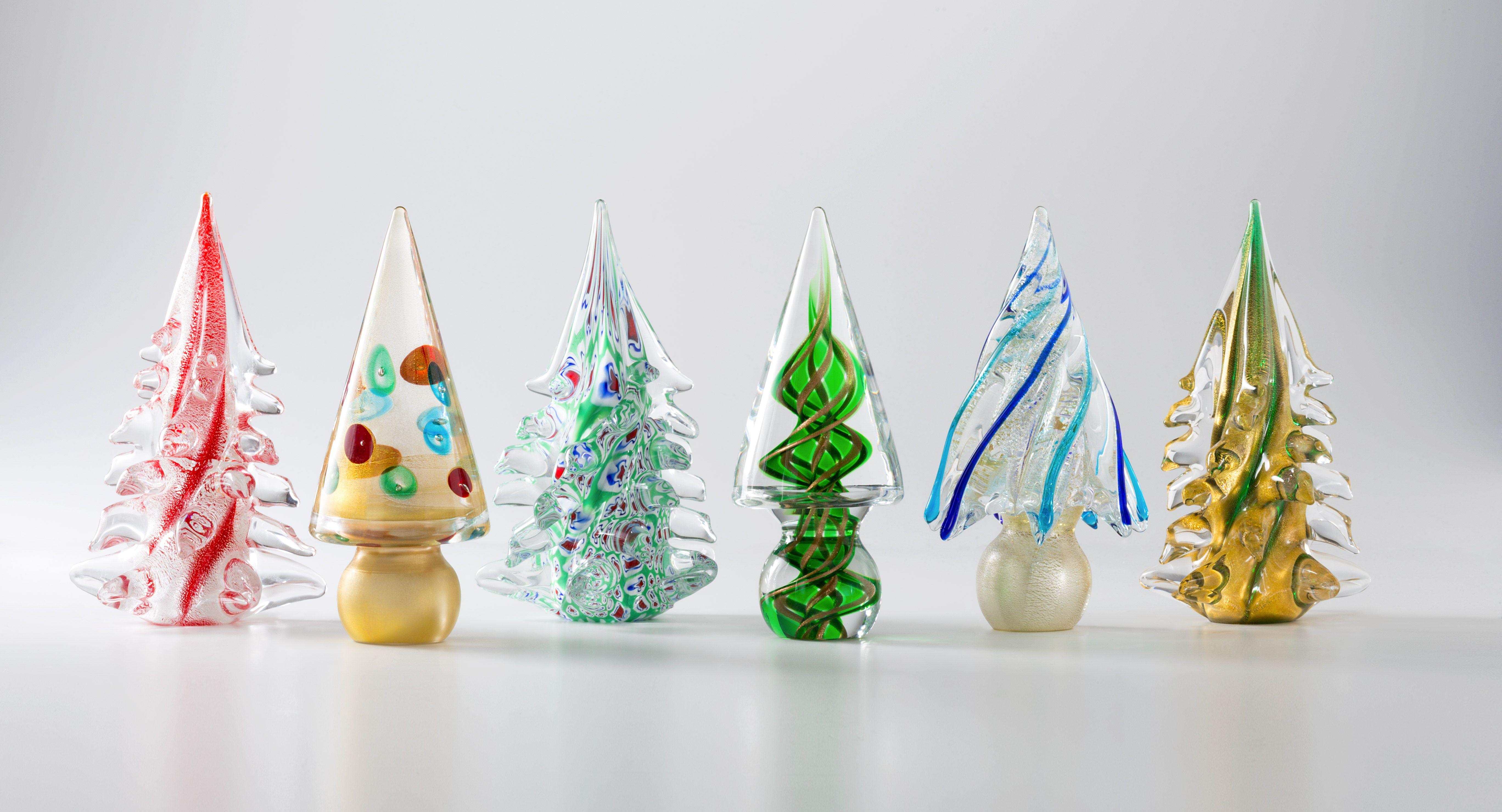 Italian Glass Trees #murano #muranoglass #glass #christmas #holiday ...