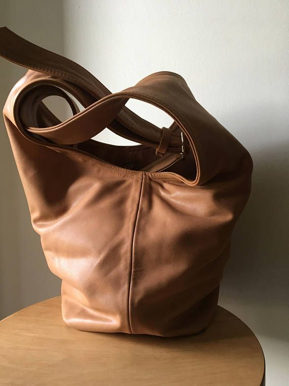 Genuine Leather Slouch Bag