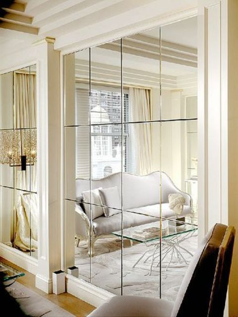 How To Visually Expand The Space 5 Tips And 20 Examples Digsdigs Living Room Mirrors Simple Interior Design Interior