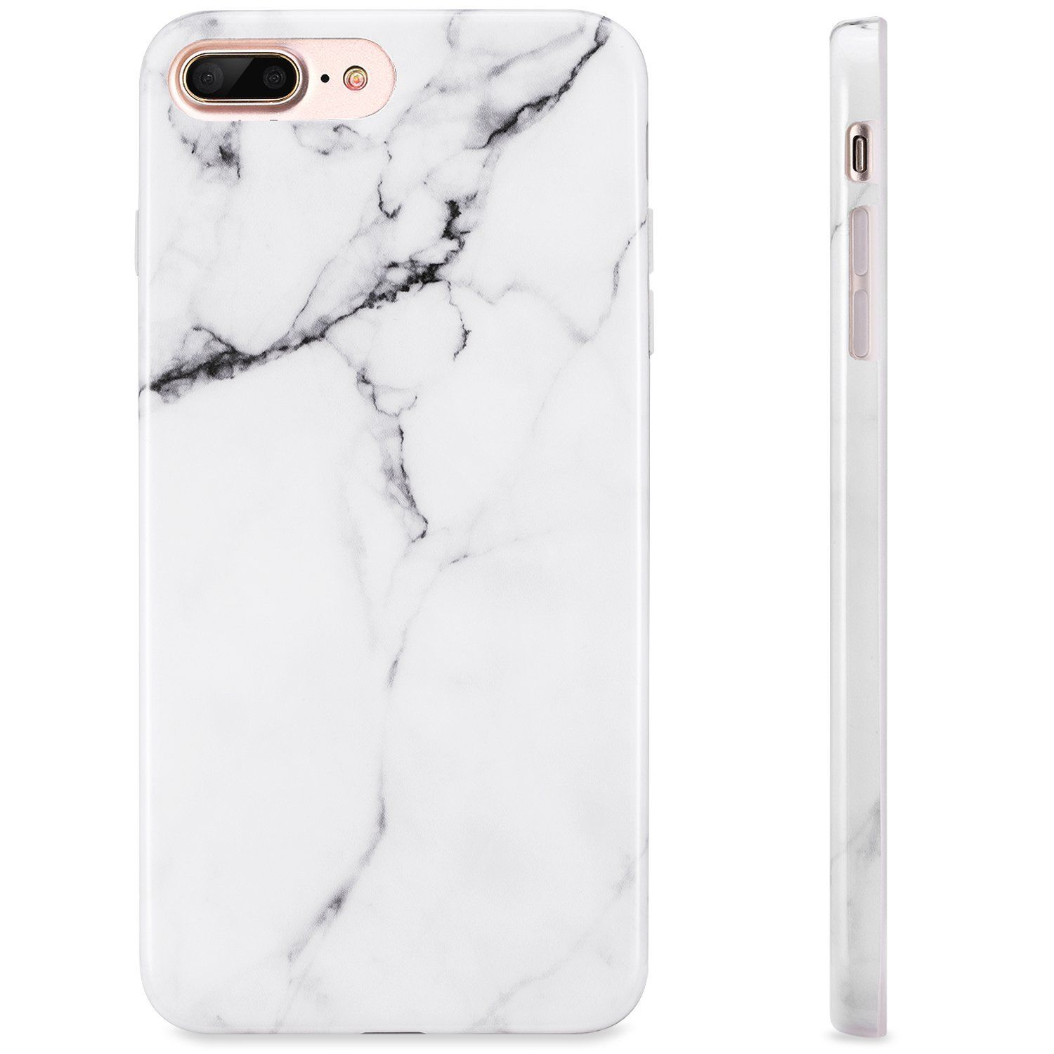 White Iphone 7 Plus Case Marble Design Iphone 8 Plus Case Kinfuton Shock Absorption Sleek Soft Tpu Case Compatible W Iphone 7 Plus Cases Iphone Iphone 7 Plus