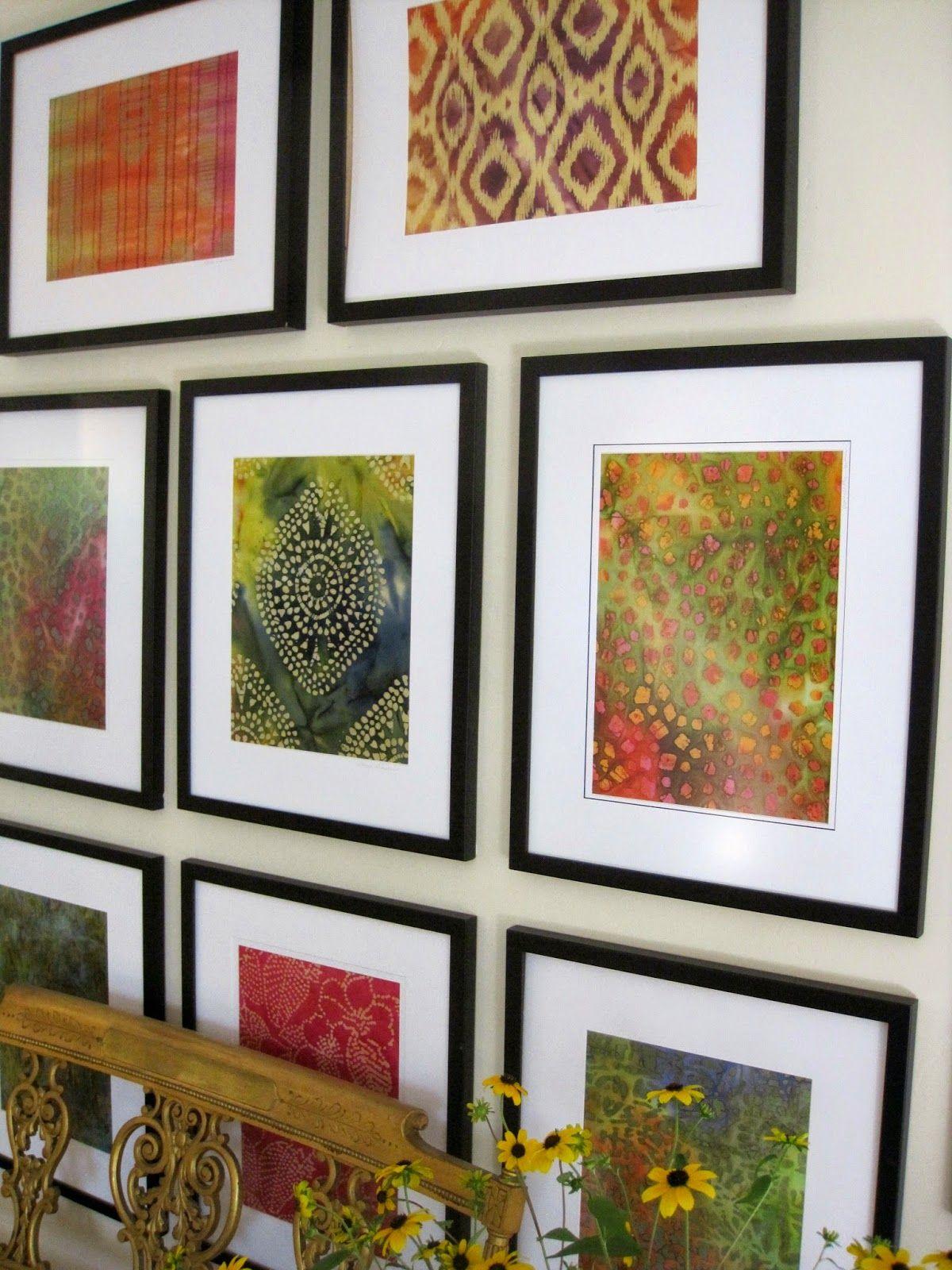 Simple Details: diy framed batik fabric... Great way to ...