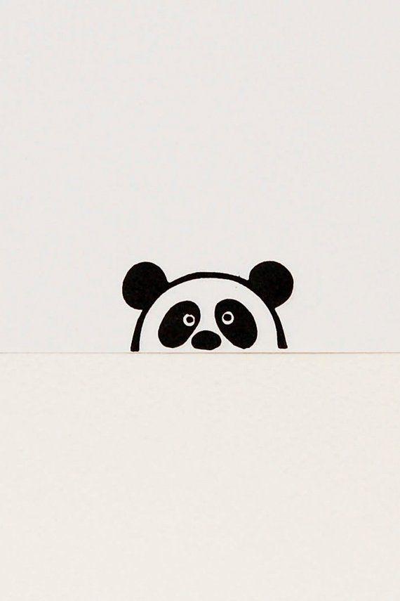Panda stamp, peekaboo stamp, kids gift, handmade stamps, funny panda, animal stamps, stocking stuffer #rubberstamping