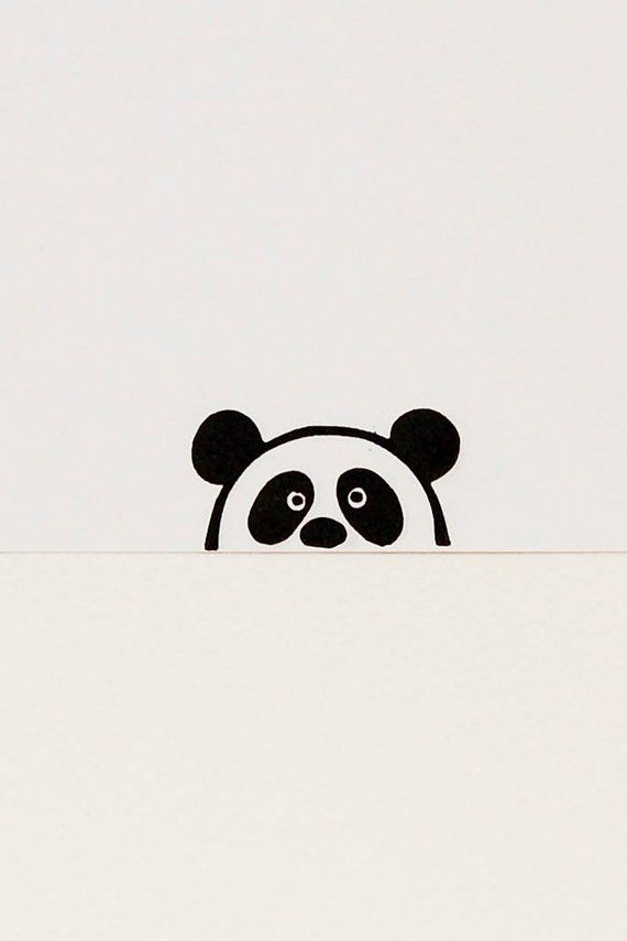 Panda stamp, peekaboo stamp, kids gift, handmade stamps, funny panda, animal stamps, stocking stuffer