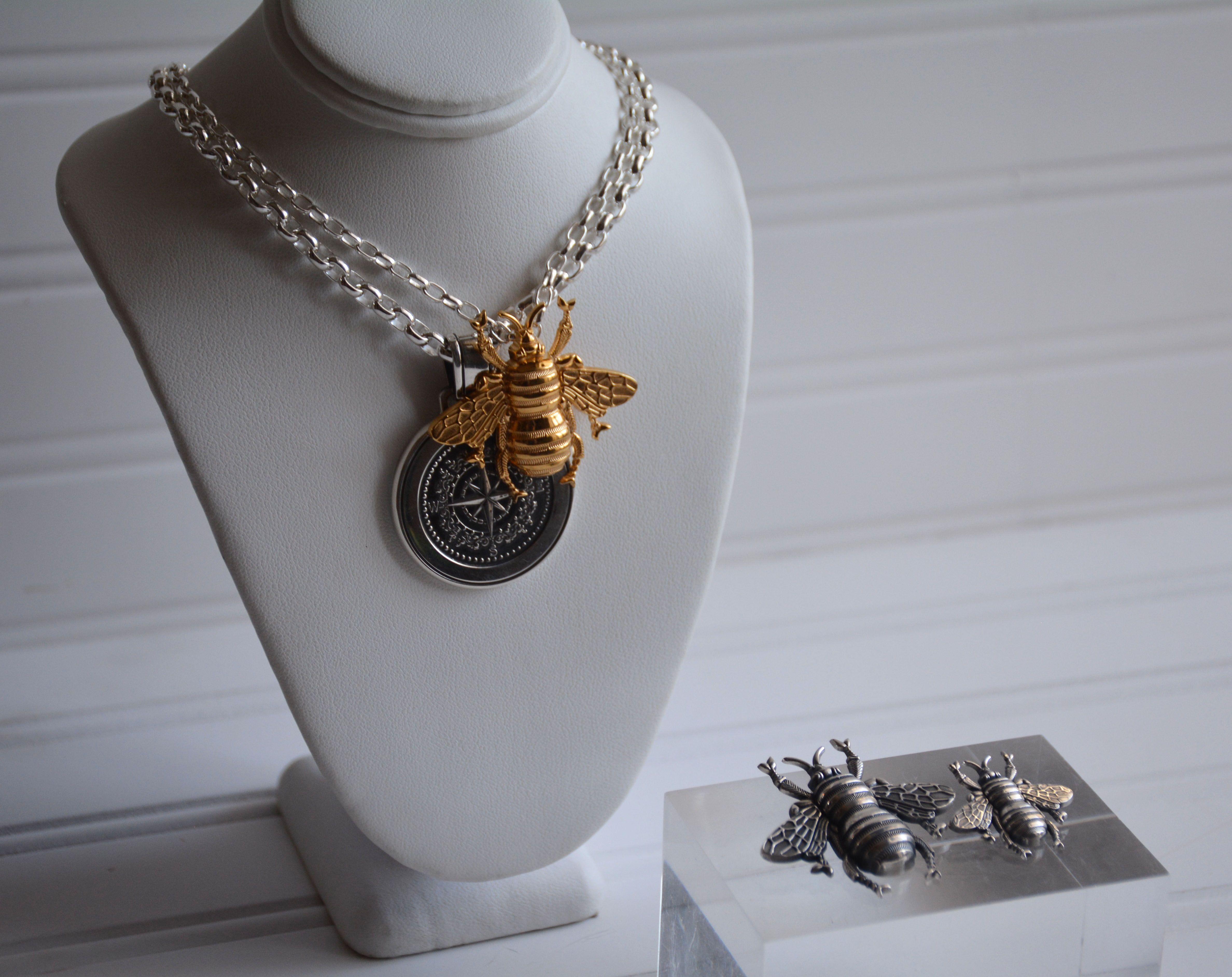 New Bee Collection Beekind Beegood Beehappy Colbydavis Statement Necklace Pendant Necklace Pendant