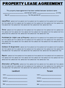 LeaseAgreementTemplate  A To Z Templates    Template