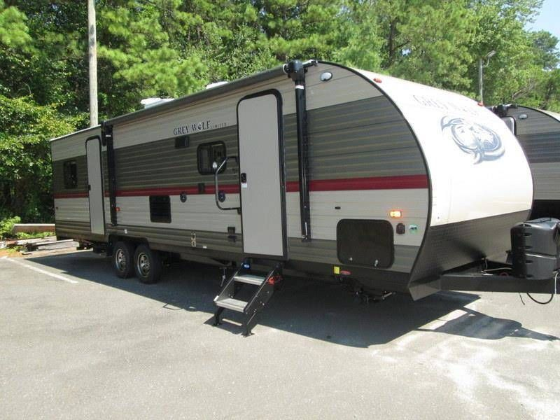 2018 Forest River Grey Wolf 27rr Slide Out Enclosed Rear Garage W