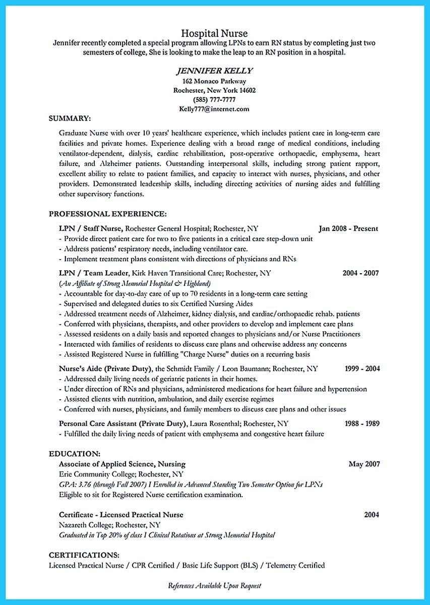 Nice High Quality Critical Care Nurse Resume Samples  Resume