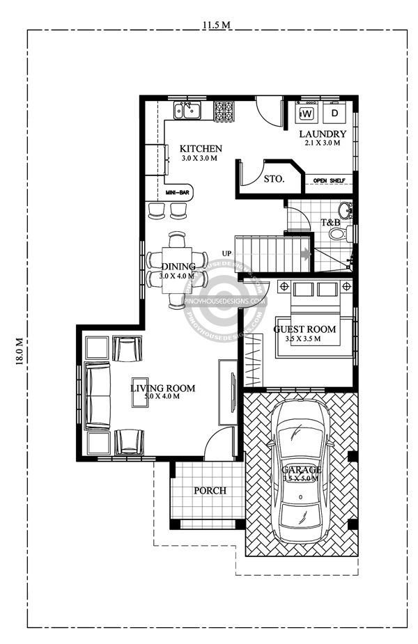 Open To Below Design Features Are Always A Favorite In Any Residential Design Matthew S Four Bedroom La Home Design Plan House Layout Plans Modern House Plans