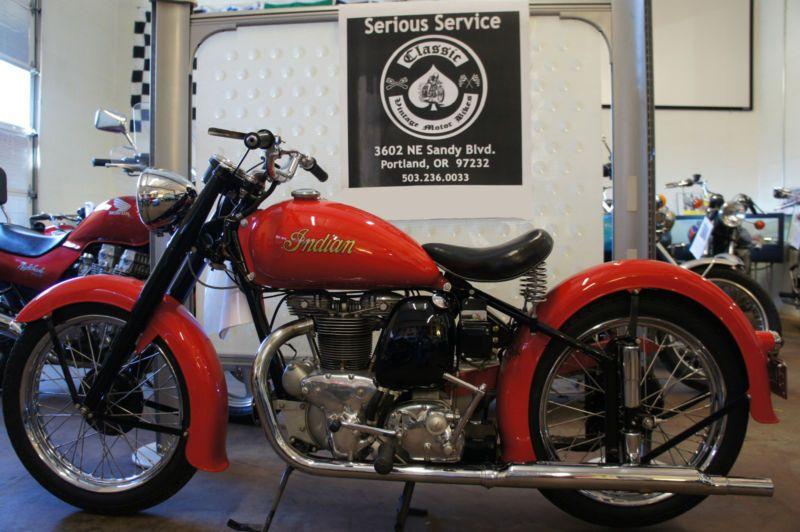 1949 Indian Golden Arrow Old School Bike Indian Motorcycle Classic Bike