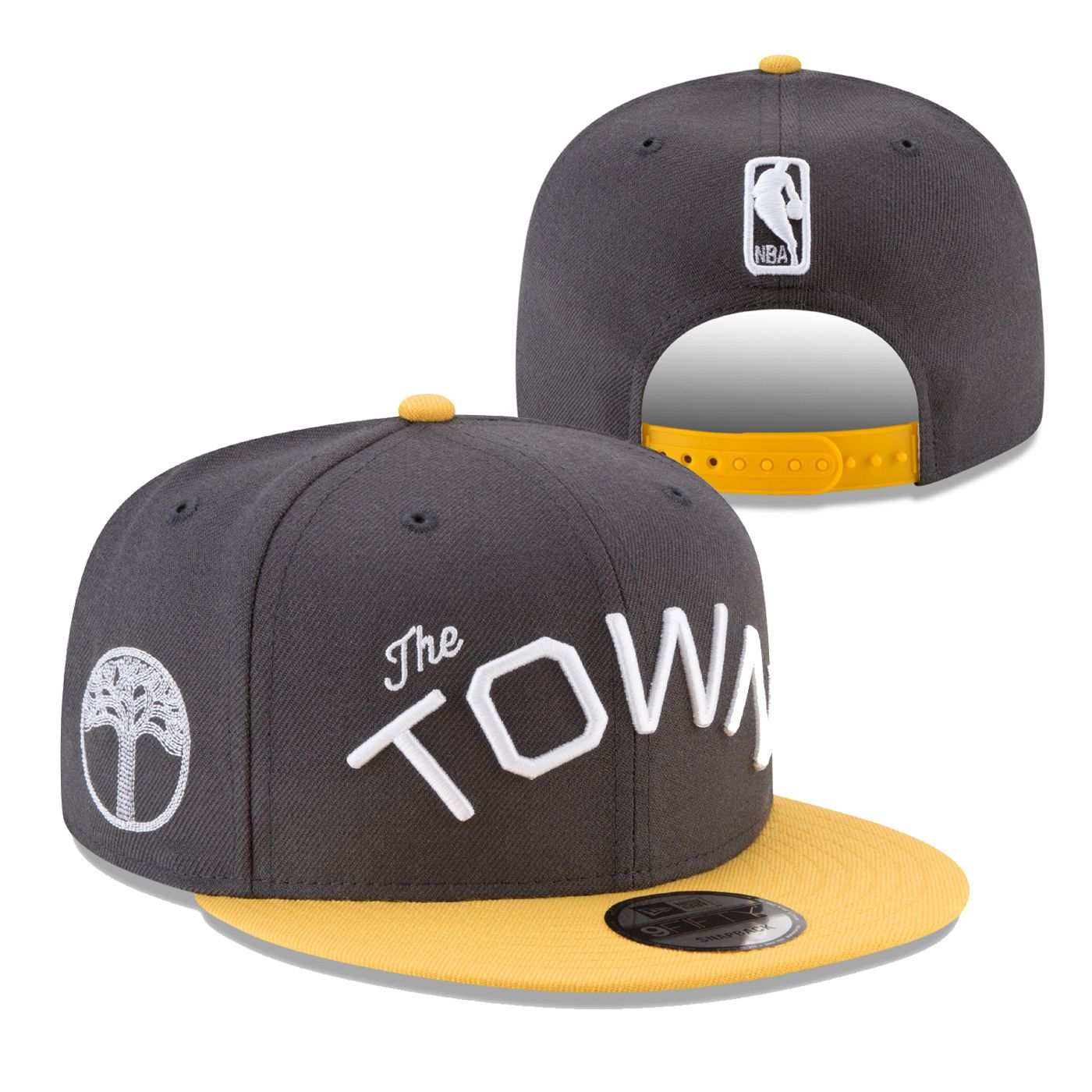 4f070bb5eae Golden State Warriors New Era 'The Town' Wordmark 2-Tone 9FIFTY Snapback -  Slate Gold