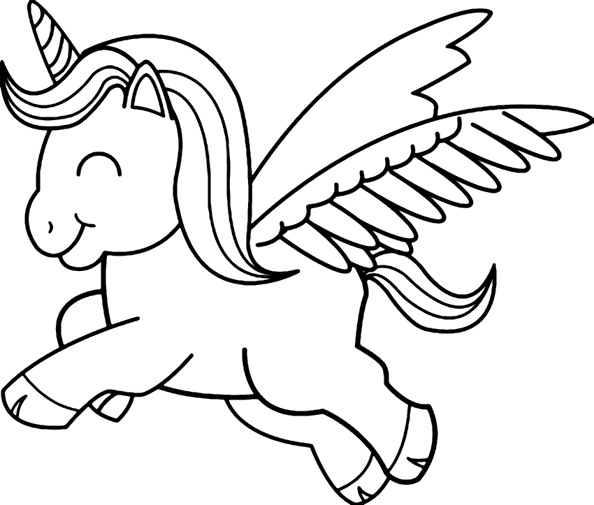 Baby Unicorn Printable Coloring Pages Unicorn Drawing Unicorn Coloring Pages Easy Cartoon Drawings