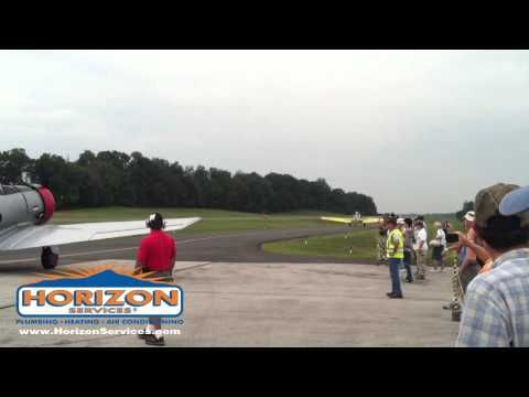 Horizon Services was the primary sponsor of the 2012 Festival of Flight Air & Car show at the New Garden Flying Field in Toughkenamon, Pennsylvania. This clip shows highlights of the North American T-6s / SNJs at the show.