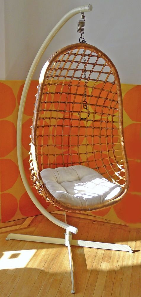 Super Cool Mid Century Modern Hanging Chair With Stand Modern