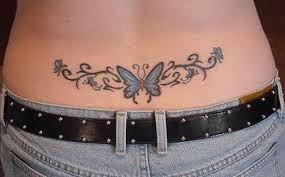 0b0f2153887db Pretty Butterfly tramp stamp | Tattoos | Waist tattoos, Lower back ...