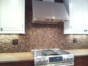 Backsplashes Stone Backsplash Modern Stoves Rock Backsplash
