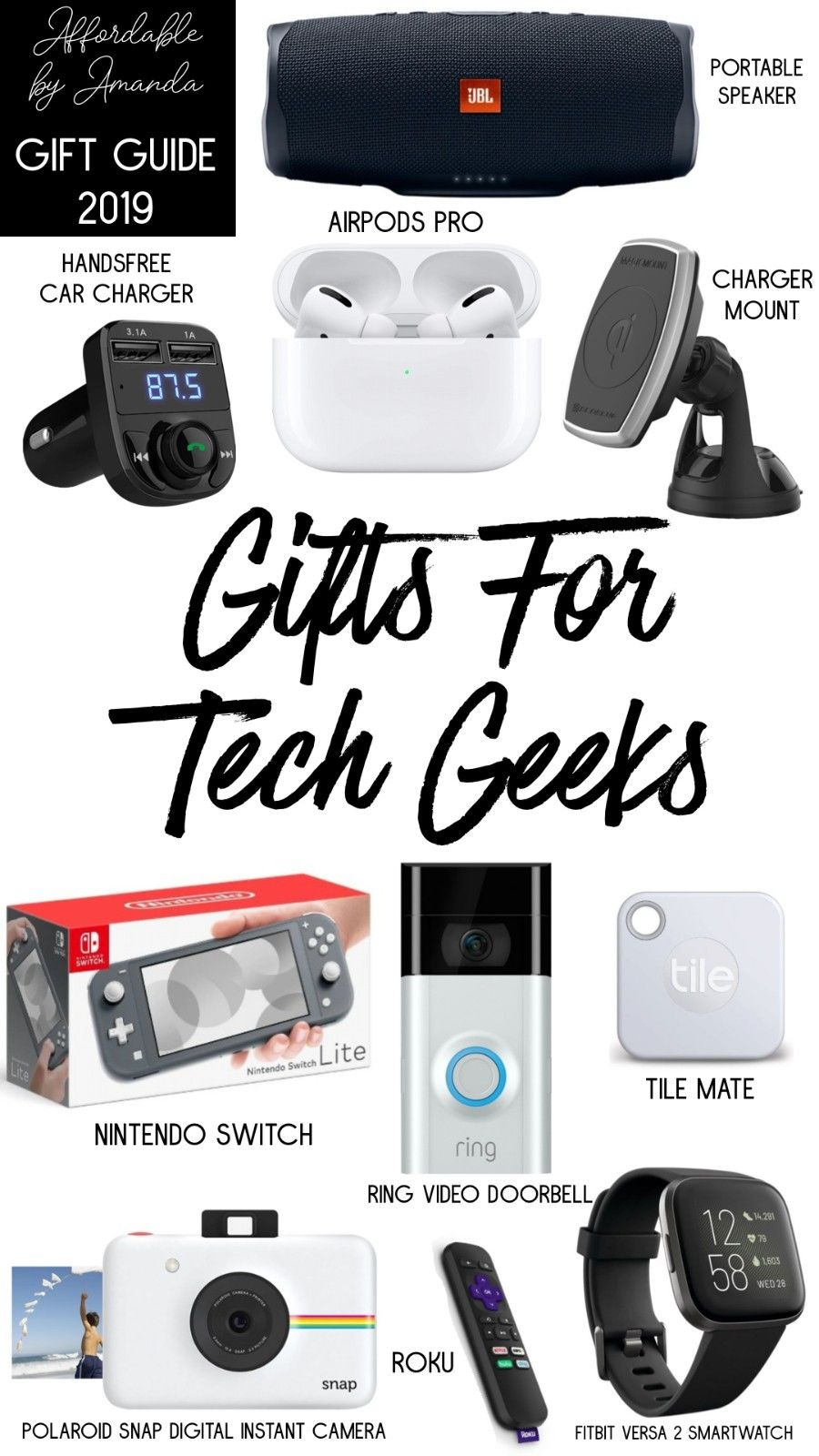 Holiday Gift Guide Gifts For Tech Geeks Affordable By Amanda Florida Style Blogger Gift Guide Geek Stuff Holiday Gift Guide