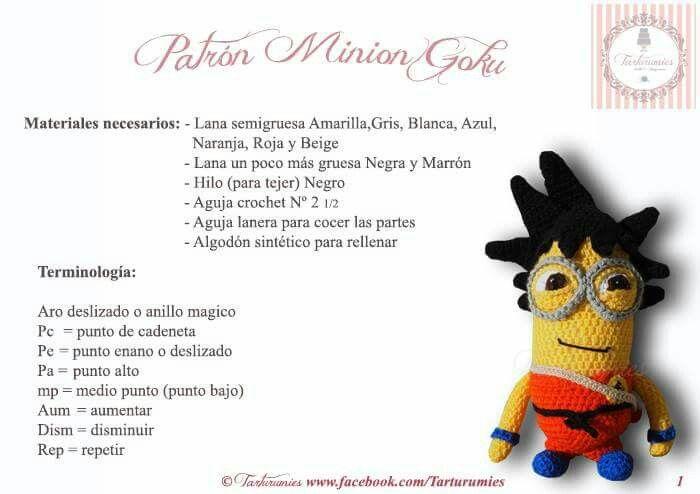 Minion goku patron 1 | Minions!!! | Pinterest