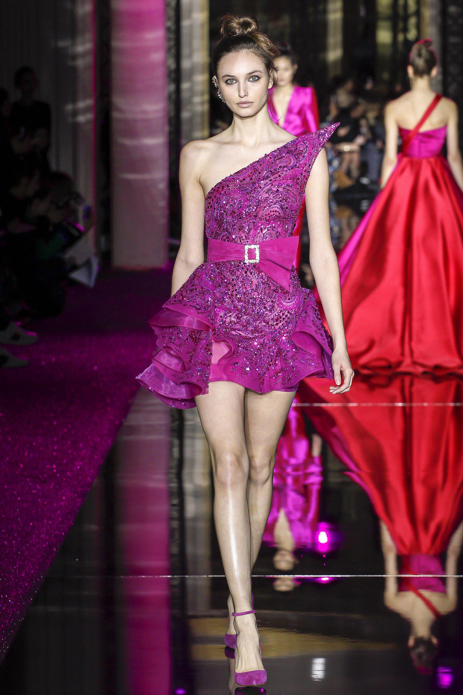 Zuhair Murad Spring 2017 Couture Fashion Show | Lilas
