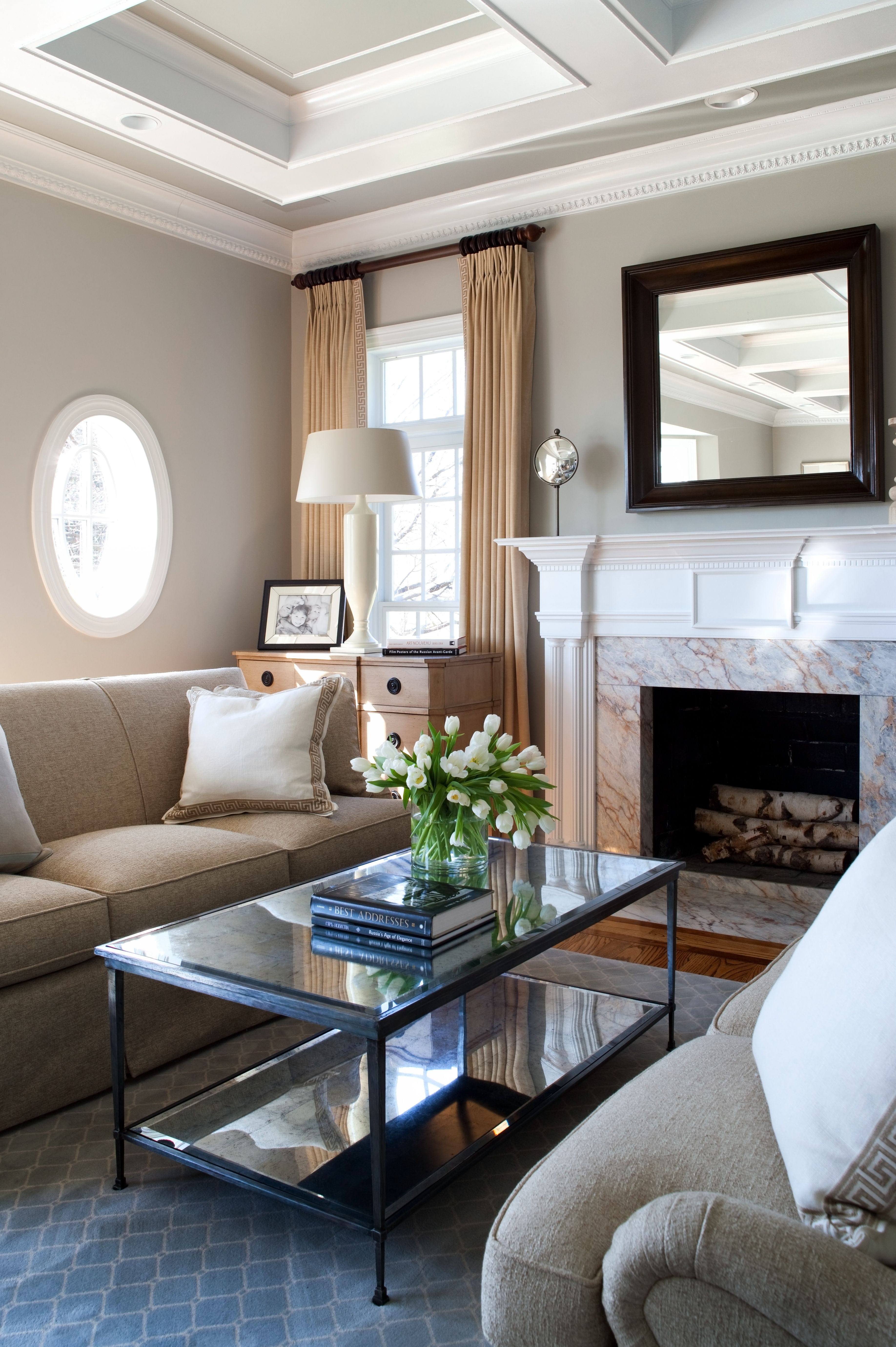 www.kristinpeakeinteriors.com  living room another angle...client in Potomac, Maryland