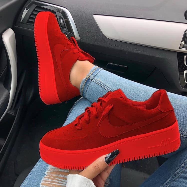 Religioso entrada lanzamiento  Tenis rojos🔴 | Zapatos nike mujer, Zapatos nike para damas, Modelos de zapatos  nike