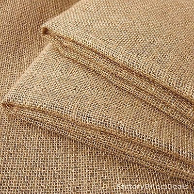 3 m 10oz Luxury Natural Jute Hessian Burlap Fabric Wedding Craft Upholstery 40/""