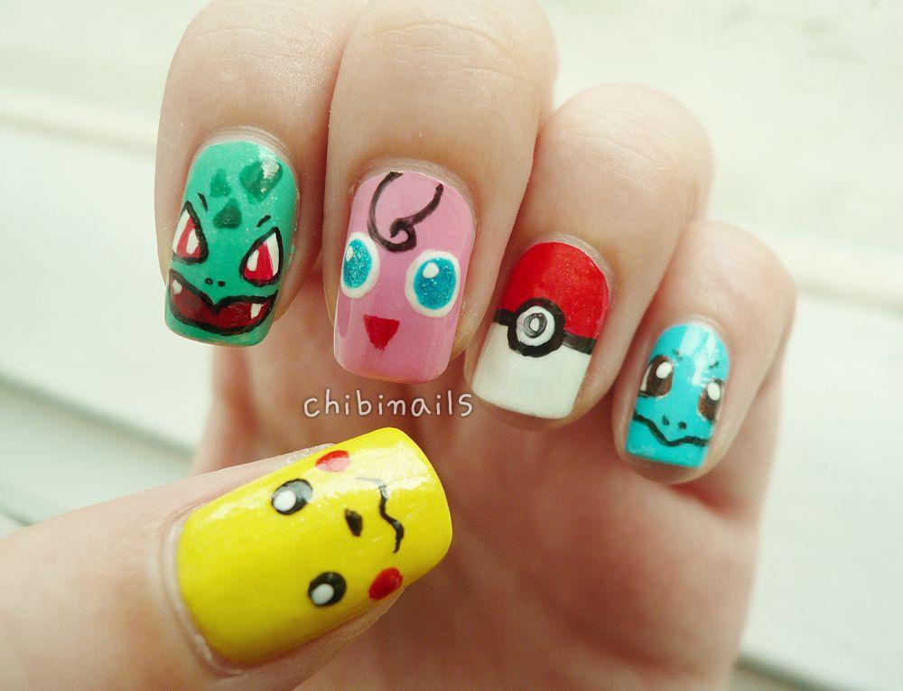 Pokemon Nails   Hair and Makeup   Pinterest   Nail nail, Manicure ...