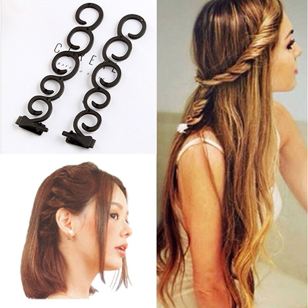 2017 New Hair Twist Styling Clip Stick Bun Maker Braid Tool Hair Accessories 4pcs Hottest Hair Care & Styling
