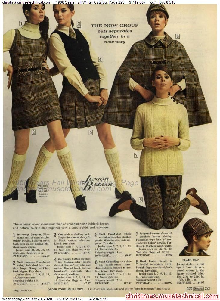 1968 Sears Fall Winter Catalog, Page 223 - Christm
