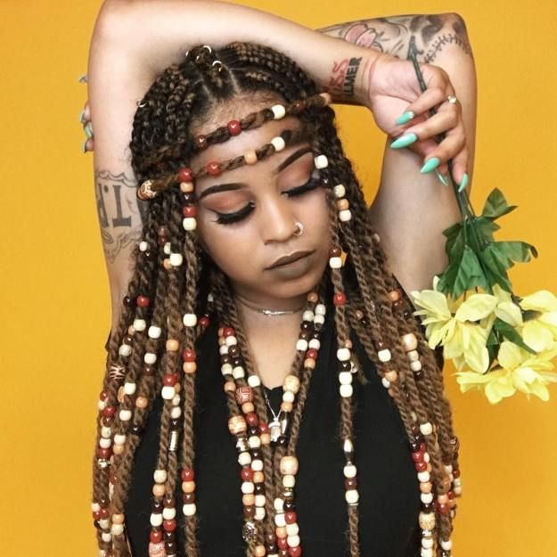Braids with Beads: Hairstyles for a Beautiful and Authentic Look #braidedhairstylesforblackwomen