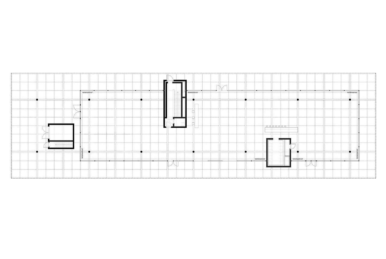 Peter zumthor werkraum plans facades sections - Architektur plan ...
