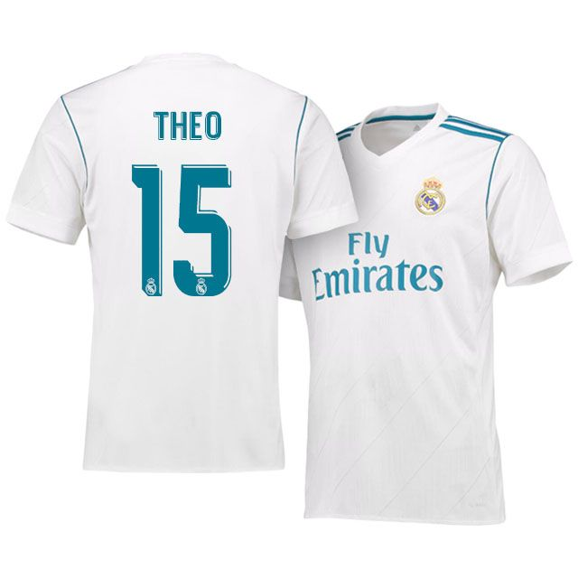 Real Madrid Jersey 17-18 theo hernandez's Home Shirt